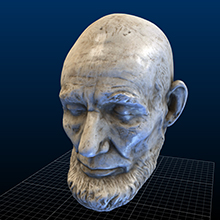 Clark Mills' Life Mask of Abraham Lincoln