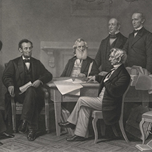 The First Reading of the Emancipation Proclamation with Abraham Lincoln