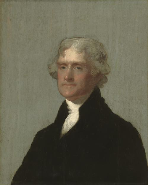 portrait of an 18th century man in a powdered wig and black suit